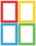 Retro polka dots border Stock Photos