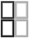 Retro polka dots border Royalty Free Stock Photo