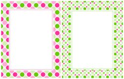 Retro polka dots border Stock Images