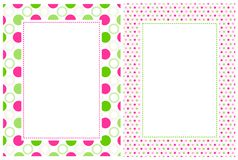 Retro polka dots border Stock Photography