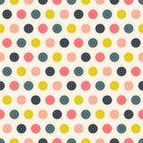 Retro polka dots seamless pattern Stock Photo