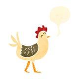 retro pollo del fumetto Immagine Stock