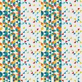 Retro polygonal seamless pattern Stock Photo
