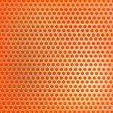 Retro pomarańczowy sześciokąt kropkuje tło Zdjęcia Royalty Free