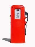 (Retro) pompa di benzina rossa d'annata Fotografia Stock Libera da Diritti