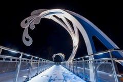 Retro ponte dell'onda Immagini Stock