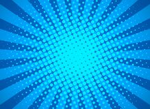 Retro pop art background with halftone dots and starburst rays. banner for comic book superhero. flat vector