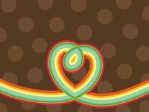 Retro pop hart van de regenbooglijn Stock Fotografie