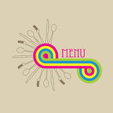 Retro pop menu card Stock Photo