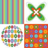 Retro pop orange green pattern Royalty Free Stock Photography