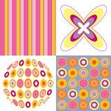 Retro pop pink yellow pattern Stock Photos