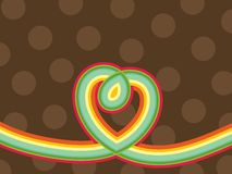 Retro pop rainbow line heart Stock Photography