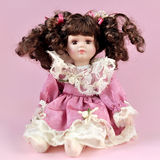 Retro porcelain doll Royalty Free Stock Images