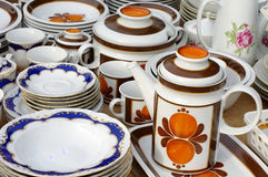 Retro porcelain tableware Stock Photography