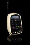 Retro Portable 8 Track Tape Player & Radio. Retro portable eight track tape player & radio isolated on black background Royalty Free Stock Photo