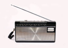 Retro Portable Radio. Portable AM/FM radio of seventies and eighties style Stock Photography