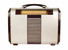 Retro Portable Radio. Isolated on white Royalty Free Stock Photo