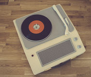 Retro portable record player Royalty Free Stock Images