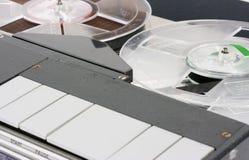 Retro Portable Tape Recorder Macro stock images