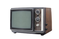 Retro Portable Television Set Isolated Royalty Free Stock Photo