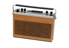 Retro portable transistor radio of 60s and 70s royalty free stock photography