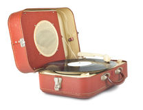 Retro portable turntable Royalty Free Stock Images