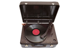 Retro portable turntable Stock Photos