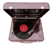 Retro portable turntable Stock Images