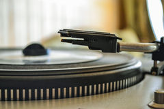 Retro portable turntable LP player vintage Stock Images