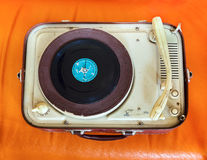 Retro portable turntable Royalty Free Stock Photo