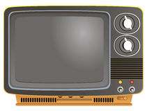Retro Portable TV Stock Image