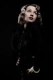 Retro portrait of attractive blonde Stock Image