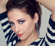 Retro portrait of beautiful girl Royalty Free Stock Photography
