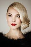 Retro portrait of a beautiful woman Royalty Free Stock Photos
