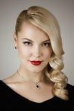Retro portrait of a beautiful woman Stock Photo