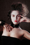 Retro portrait of beautiful woman. Vintage style. Fashion photo Stock Images