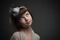Retro portrait of elegant little girl Royalty Free Stock Photo