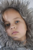 Retro Portrait of funny lovely little girl. Close up photo Stock Image