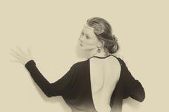Retro portrait of woman Royalty Free Stock Photo