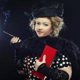 Retro portrait of  woman. Vintage style. Royalty Free Stock Photos