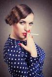 retro portret kobieta fotografia stock