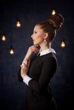 Retro portret seksowny model Zdjęcia Royalty Free