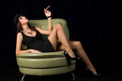Retro portret van asexy vrouw Stock Afbeelding
