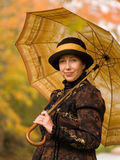 Retro portret van de vrouw Stock Foto