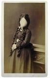 Retro portret van een meisje Stock Foto