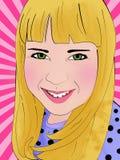 Retro portret van meisje Stock Fotografie