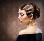 retro portreta styl Fotografia Royalty Free