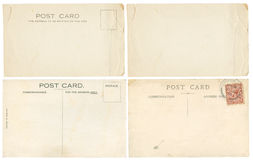 Retro post cards Royalty Free Stock Photos