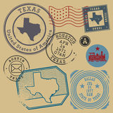 Retro postage stamps set Stock Image