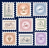 Retro postage stamps Royalty Free Stock Images